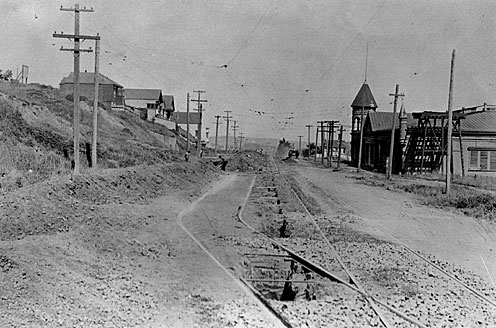 Sunnyside Ave. (Monterey) looking east from Baden, 1914