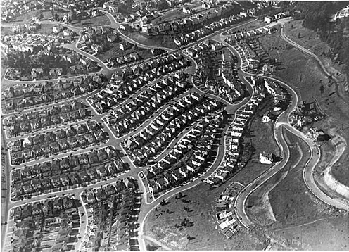 Aerial View of Westwood Highlands (year unknown)