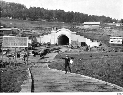 "Claremont Station, ""First Station West of Twin Peaks Tunnel,"" 1917"